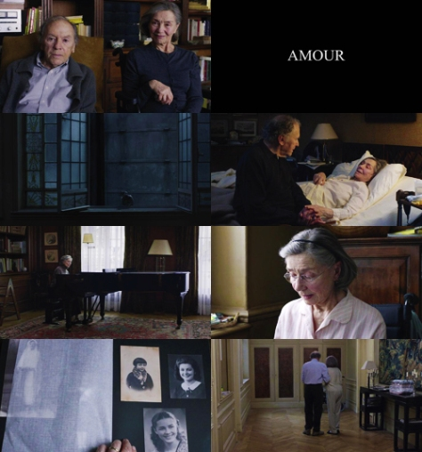 Amour 2012- screen shots - EMANUELLE RIVA and Jean Louis Trintignant