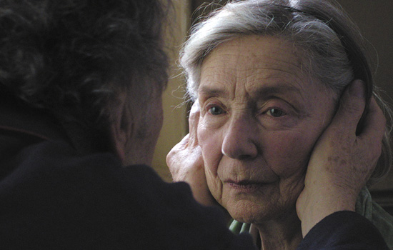 Amour 2012 Stars Emanuelle Riva and Jean Louis Trintignant