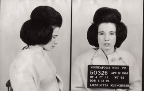 Bad Girl Vintage Fashion- Black and White Mugshot