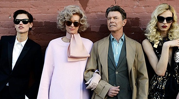 David Bowie-Tilda Swinton-Andrej Pejic-Saskia De Brauw-The stars (are out tonight) 2013