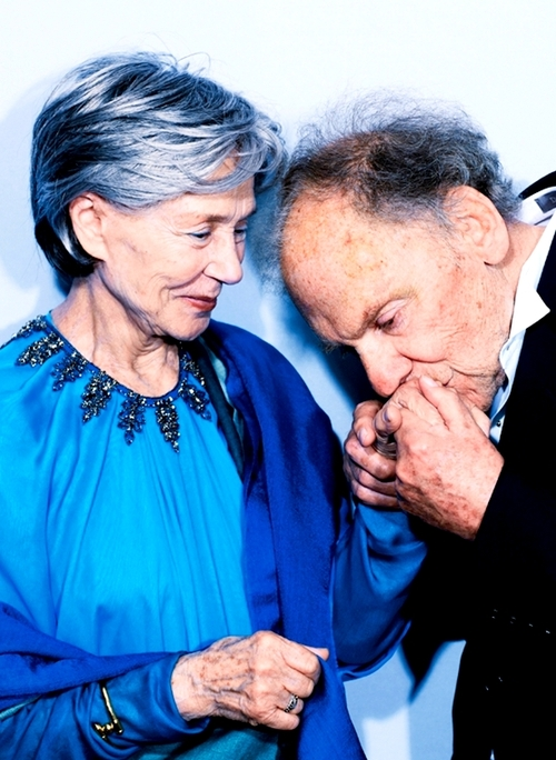 Emanuelle Riva and Jean Louis Trintignant, 2012