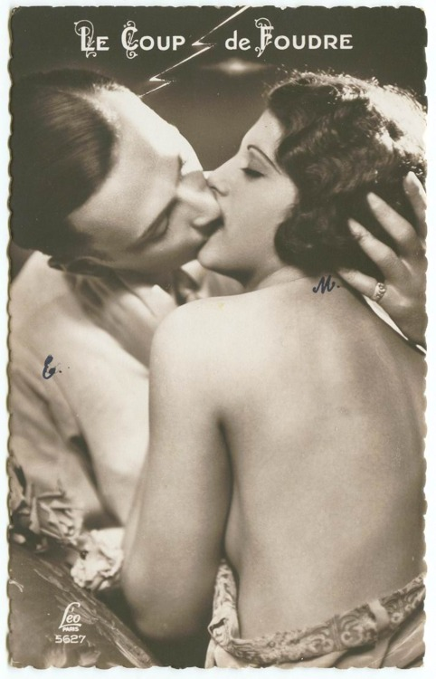 EOF- Happy Valentines Day- 2013- Vintage Black and White Postcard - 1920s