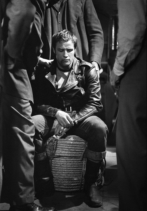 Johnny- The Wild One- Vintage Marlon Brando- Black and White- Mens Fashion Icon- Rebel Style- at The Eye of Faith - February 19 2013