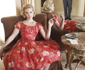 MAD MEN- Season 4- Betty Draper- 1960s Floral - Vintage Inspiration- Adele- Grammys 2013
