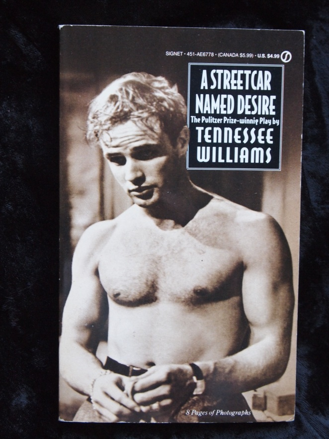 Tenesse Williams Paperback- A STREETCAR NAMED DESIRE- Vintage Marlon Brando Cover