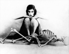 Theda Bara and the Skeleton