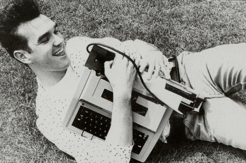 Vintage Morrissey and his typewriter - style and mens fashion - the eye of faith