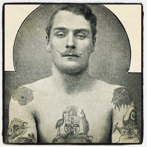 19th Century Tattooed Dandy- Vintage Rebel Photograph- Punk History at The Eye of Faith