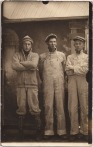 arcade photo of working men- americana. mens vintage style and fashion workwear inspiration