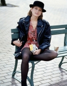 bridget fonda in single- saint laurent 2013- vintage style inspiration