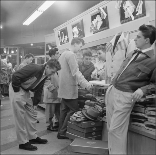 EOF - 1950s Dapper Men Hang Out Shopping for New Clothes- Dress to Impress and Bring a Friend- The Eye of Faith Vintage