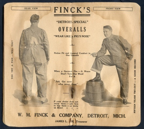 mens fashion workwear advertising - 1930s