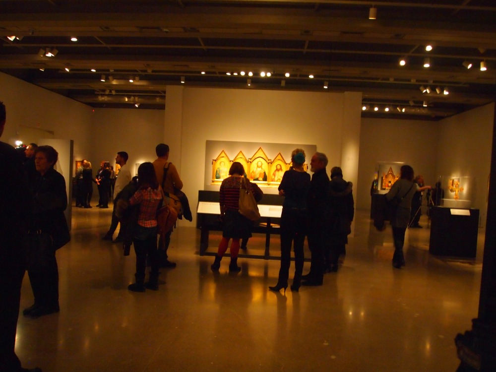 The main gallery at Revealing the early renaissance- stories and secrets in florentine art - AGO- March 12, 2013