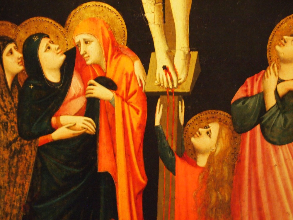 """Revealing the Early Renaissance: Stories and Secrets in Florentine Art at the AGO - Detail of Bonaguida's """"THE CRUCIFIXION"""""""