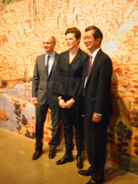Sasha Suda, Michael Chan (Ontario Minister of Culture), and CEO at the AGO, Matthew Teitelbaum - March 12, 2013 - AGO Press Preview