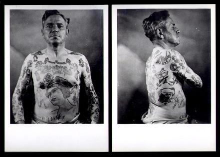 Tattoo Daddy - circa 1930s - vintage rebel- fashion style- the eye of faith