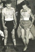 The Couple That Tattoos Together Stays Together- Vintage 1940s fashion style wild