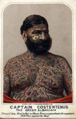 The Tattooed Greek- Vintage Inspiration- Turn of the Century- Hand Tinted- Lifestyle - rebel society