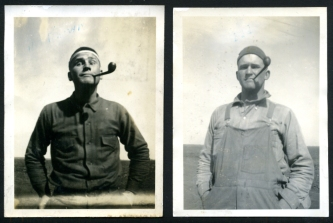 two men- original vintage snapshots- workwear style and mens fashion vintage inspiration