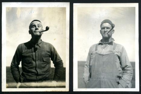 two men- original vintage snapshots- workwear style and mens fashion vintage inspiration