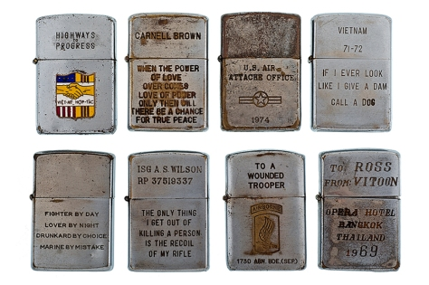 Vintage Vietnam War Veteran Lighters I