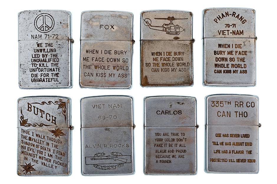 Vintage Vietnam War Veteran Lighters V