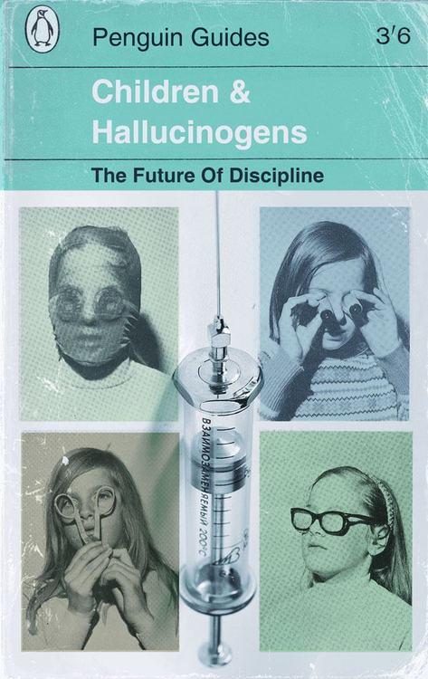 Children and Hallucinogens - Rare Vintage Book Cover- Odd Weird Strage