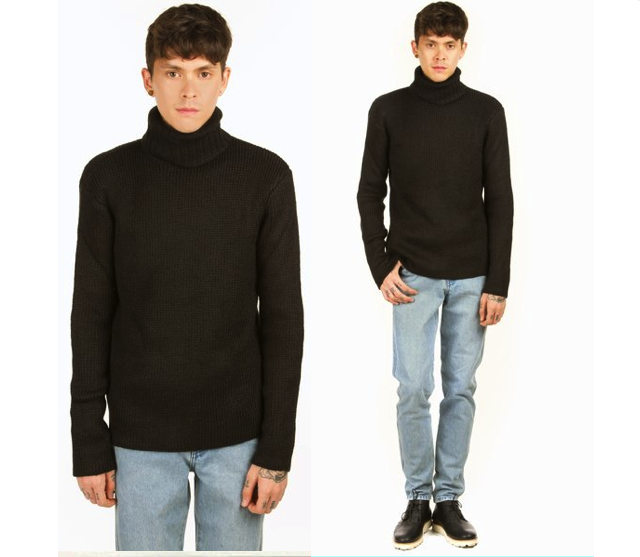 jonny quest vintage style - t by alexander wang chunky knit turtleneck from opening ceremony-1