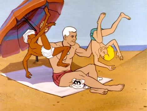 Race Bannon on the beach
