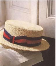 secret society style - straw boater hat - tom buchanan