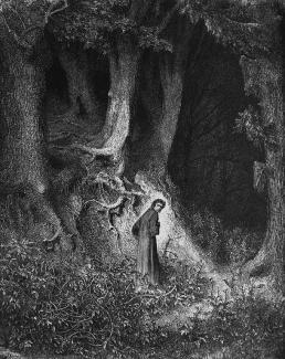 The Forest illustration by Gustav Dore for Dantes Inferno