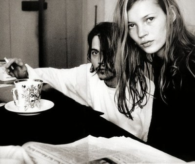 Vintage 90s Johnny Depp and Kate Moss