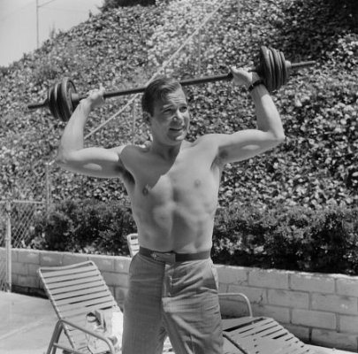 William Shatner - Vintage Outdoor Beefcake Photograph