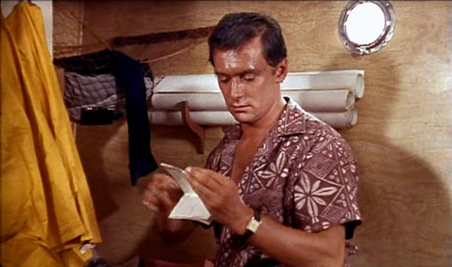 Alain Delon is dapper in a cool vintage graphic summer shirt - 1960 Puple Noon