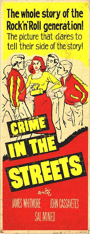 crime in the streets - 1956 vintage poster colour