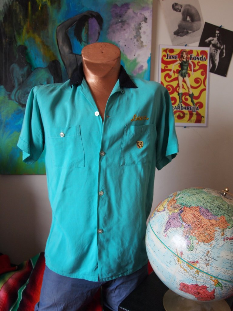 Knights of the Sandcastle- Ray Jewelers 1950s Nat Nast Bowling Shirt