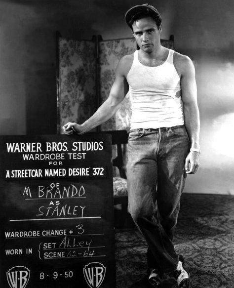 Vintage Streetcar Named Desire- Marlon Brando -Stanley Costume Test