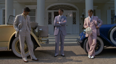 robert redford - the men of great gatsby- 1974- pink suit