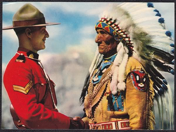 royal canadian mountie indian chief