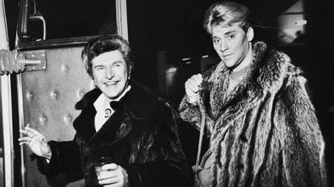 Scott Thorson and Liberace - Vintage Black and White photograph