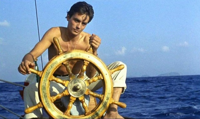 Vintage alain delon- your destiny is in your hands - purple noon 1960