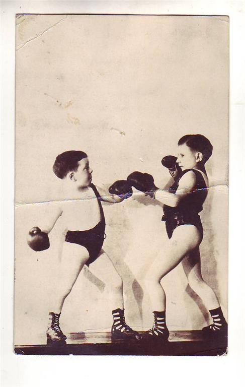 EYE OF FAITH (VINTAGE)- Boxing Babies-  Curio Bizarro Photographia Major