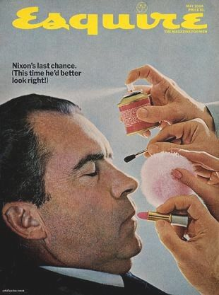 Nixon - 1968 Vintage Esquire Mens Fashion Magazine