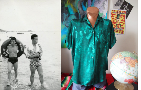 Party Like Its 1949 - The Rad Metallic Silk Foil Shirt