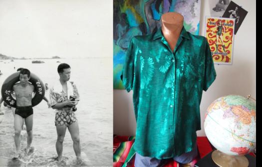 Party Like Its 1949 - The Rad Metallic Silk Foil Shirt