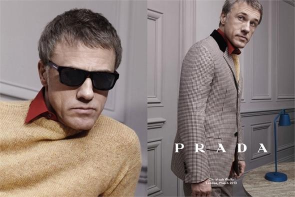 Prada-Mens-Fall-Winter-2013-2014-Advertising-Campaign-Christoph Waltz