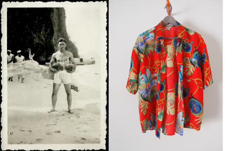 The Coconut Man + shirt THE EYE OF FAITH Vintage