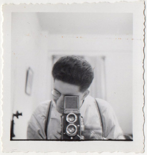 Vintage Guy Taking Photograph of Himself - Self Portrait [1940s]