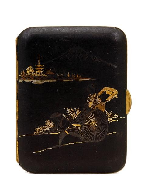 vintage japanese cigarette case