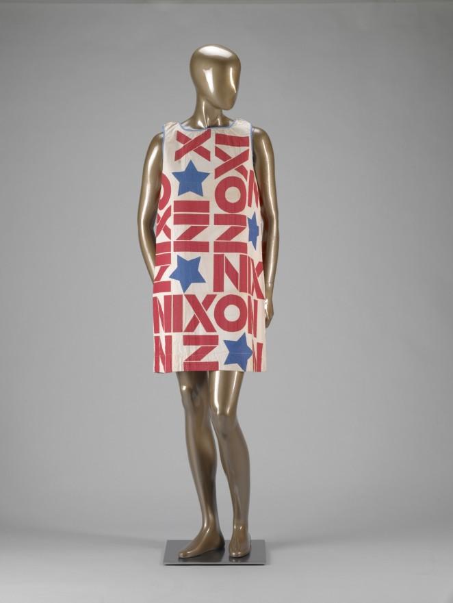 Vintage nixon paper dress